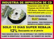 Multi impresiones de discos con la calidad  con el 12 porsientos de dvd