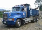 Volqueta mack mula - motor cummins 3500 usa - azul