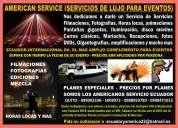 Fiestas , bodas y producción de  eventos de servicio