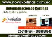 Automatizacion de cortinas en ecuador :: venta y mantenimiento, lavado de persianas y cortinas