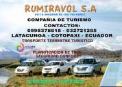 """rumiravol"" s.a.compaÑia de transporte turistico"