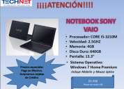 Notebook sony vaio core i5-3210m 2.5ghz 4gb 640gb 13.3
