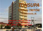 Tonsupa - mini-departamento, frente al mar, sector exclusivo del club del pacífico