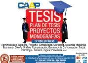Elaboracion de tesis proyectos monografias anteproyectos de todas las universidades