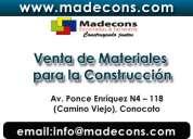 Venta y alquiler de encofrados :: materiales para construccion en quito