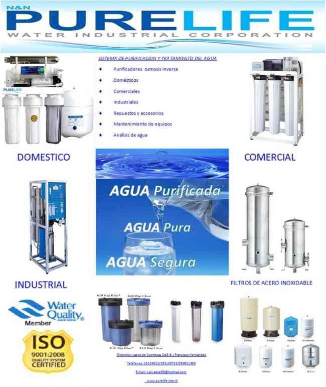 Venta de purificadores de agua osmosis inversa purelife y - Agua de osmosis ...