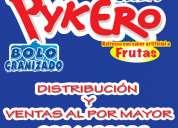Helados microempresario distribucion venta al por mayor bolos pykero