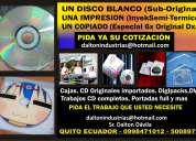 Imprime sus cd/dvd de alta calidad y copiado. d