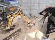 Desbanques, excavaciones, derrocamientos, nivelacion y limpieza de terrenos
