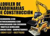 Alquiler de maquinarias y equipos de construccion