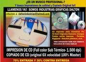 Especialistas en imprsiones de cd/dvd y grabaciones
