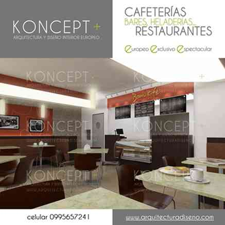 Dise o de interiores cafeter as restaurantes quito for Disenos de interiores para restaurantes