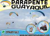 Parapente guayaquil, vuelos en parapente biplaza en guayaquil, paracaidismo, alas delta, tandem