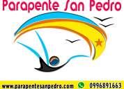 San pedro parapente, vuelos en parapente biplaza en san pedro, paracaidismo, cursos de parapente