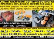 Producciones de cd  full en impresiones y grabaciones