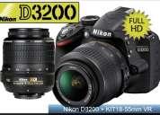 Nikon d3200 mas lente 18-55mm con garantia