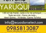 17.000 terreno de venta en yaruqui ,junto a la via principal yaruqui,se vende