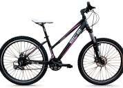 bicicleta mujer mtb aluminio ec2 - shimano acera 24 v