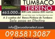 Terreno de venta  se vende terenos en tumbaco for sale tumbaco  tumbaco
