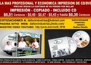 Impresiones de cd  full precios nuevos de calidad  de profesionales