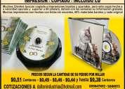 Producciones cd/dvd copia e impresion profesional