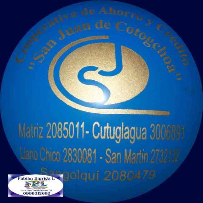 Globos impresos con logo en Quito