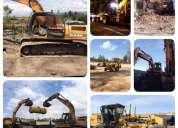 Desbanques, excavaciones, derrocamientos, limpieza de terrenos, lastrados, mejoramiento de suelos