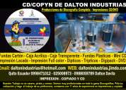 Grabaciones e impresiones de cd full de fabrica