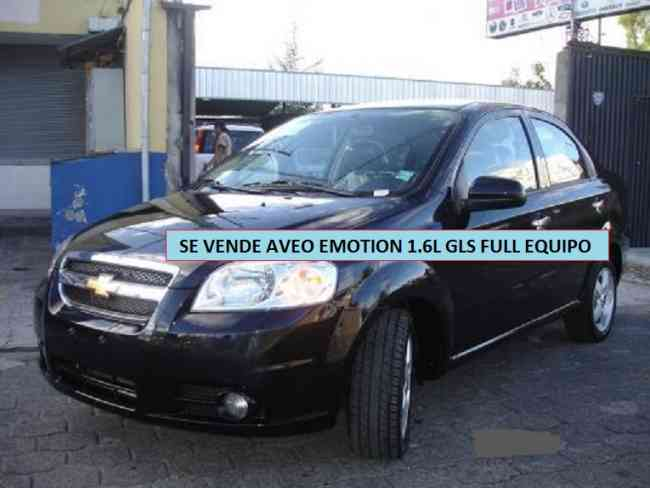SE VENDE AVEO EMOTION 1.6L GLS FULL EQUIPO COLOR NEGRO AÑO 2010