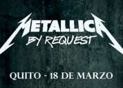 Quieres asistir al concierto de metalica quito