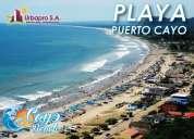 "Terrenos en puerto cayo lotizacion ""cayo beach"""
