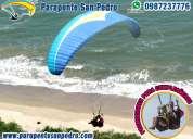 Parapente san pedro, vuelos en parapente biplaza. cursos de parapente, paracaidismo, vuelo doble
