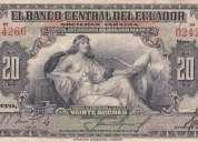 compro billetes y monedas de ecuador - monedas coloniales - etc