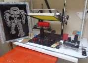 Fabricamos maquina serigrafica para planos y cilindricos y pulpos