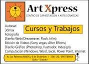 Cursos y trabajos diseÑo grafico, autocad, 3dmax, edicion de videos