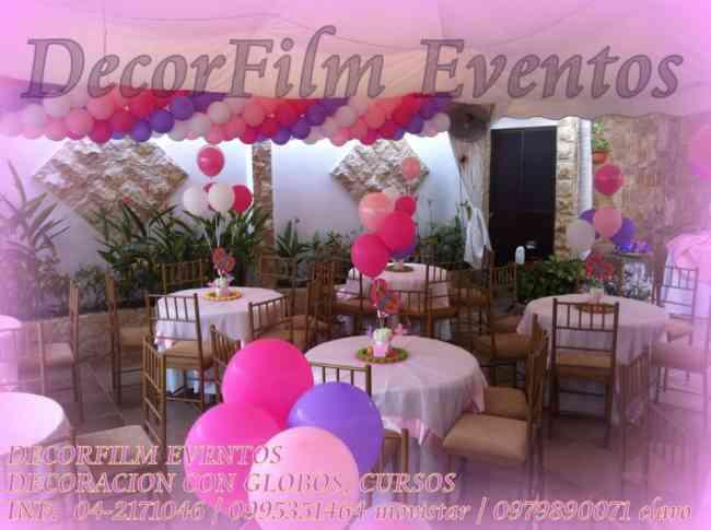 decoracion con globos filmacion y fotografia para eventos guayaquil doplim