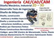 Diseño de máquinas tesis planos trabajos cad/cam/cnc moldes quito