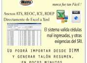 Convertidor excel a xml anexos transaccionales 2014
