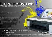 Impresora epson t1110 con sistema de tinta de sublimaciÓn