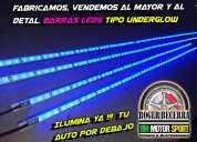 Titulo. kit de barras leds estilo underglow para iluminar tu auto por debajo
