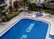 Arrendo lindo departamento en tonsupa condominio puerto coral a dos cuadras de la playa
