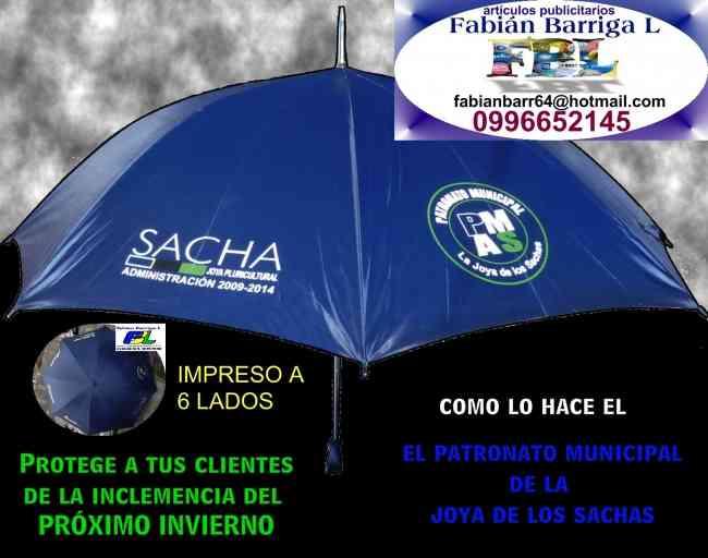 Paraguas impresos con logos, en Quito, Globos impresos R9-R12