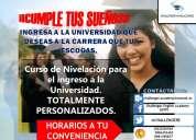 Nivelaciones para el ingreso a la universidad (examen enes)