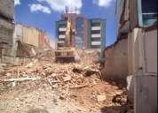 Limpieza de terrenos, desbanques, martillo hidraulico, desalojos, demoliciones, excavaciones