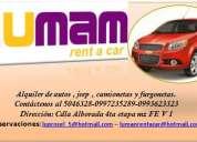Ofrecemos el servicio de alquiler de autos en guayaquil