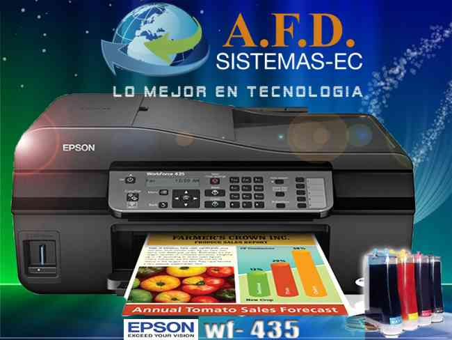 Epson Workforce 435 Con Wifi Sistema De Tinta Continua