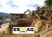 Desbanques, retroexcavadora con martillo hidráulico, demoliciones, excavaciones para subsuelos