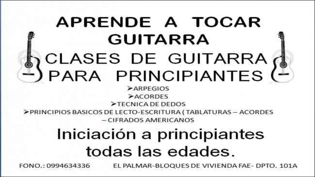 CLASES DE GUITARA PARA PRINCIPIANTES MANTA