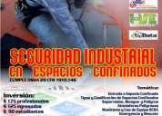 Curso internacional seguridad industrial trabajos en espacios confinados