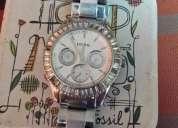 reloj fossil de mujer poquito uso remato por viaje en $ 50